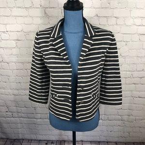 Express Women's Gray White Stripe Casual Blazer S